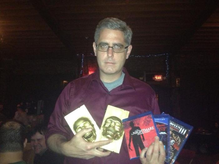Me thinking I was looking creepy, but I realize now that I just look unimpressed. Believe me, I was very pleased with the awards.